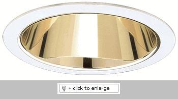 "7"" Compact Fluorescent Horizontal Reflector Trim  Dimension: 7 1/2"" O.D."