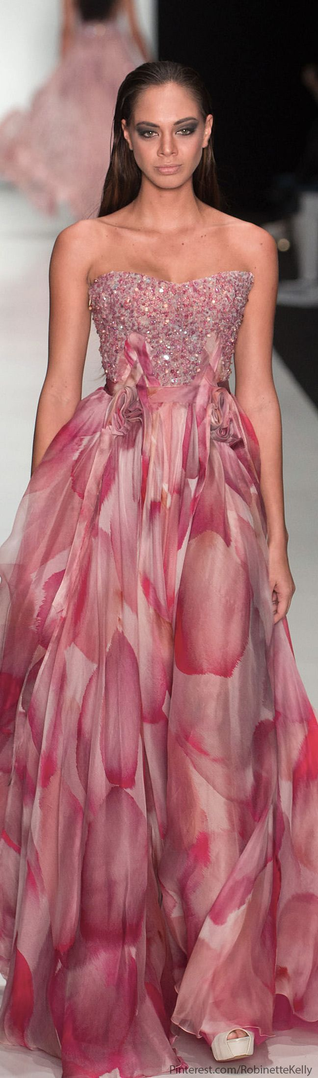 -Tony Ward | F/W 2014 / water color print / bridal party <3