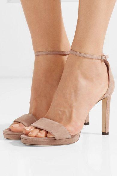377b44661ba0 Jimmy Choo - Misty 120 suede sandals in 2019 | W E D D I N G | Suede ...