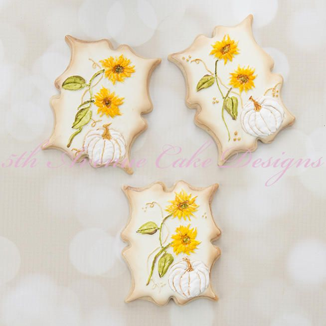 Harvest Sunflower and Pumpkin Cookies by Bobbie Bakes