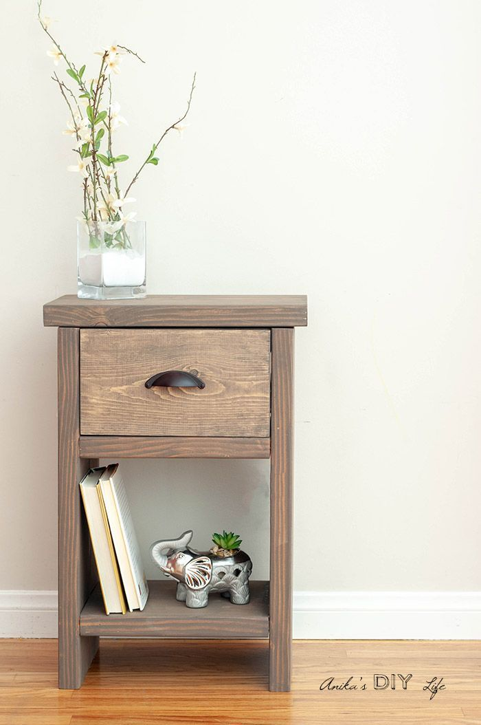 How To Build A Diy Nightstand With A Drawer And Hidden Compartment Free Plans And Tutorial Diy Nightstand Diy Furniture Bedside Table Diy