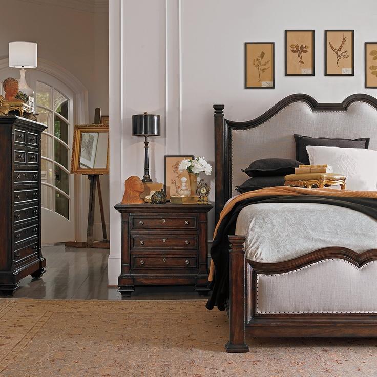 drexel bedroom set%0A Stanley Furniture European Farmhouse Upholstered Bedroom Set
