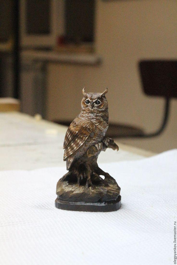 Купить Миниатюрная скульптура с секретом Филин - комбинированный, сова, сова скульптура, сова в подарок