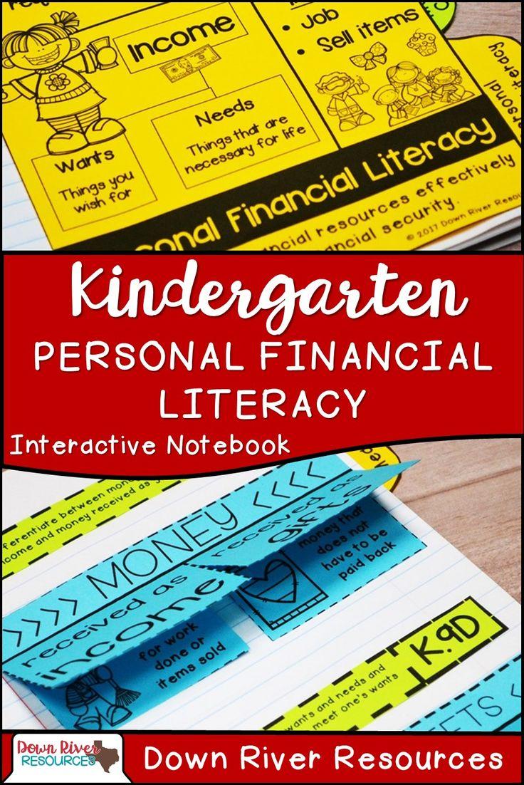 Kindergarten Personal Financial Literacy | Personal Financial Literacy Kindergarten | Financial Literacy for Kids | Personal Finance for Kids | Financial Literacy Activities | Interactive Math Notebook |