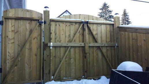 Single man gate beside Double swing gate on 4x6 posts