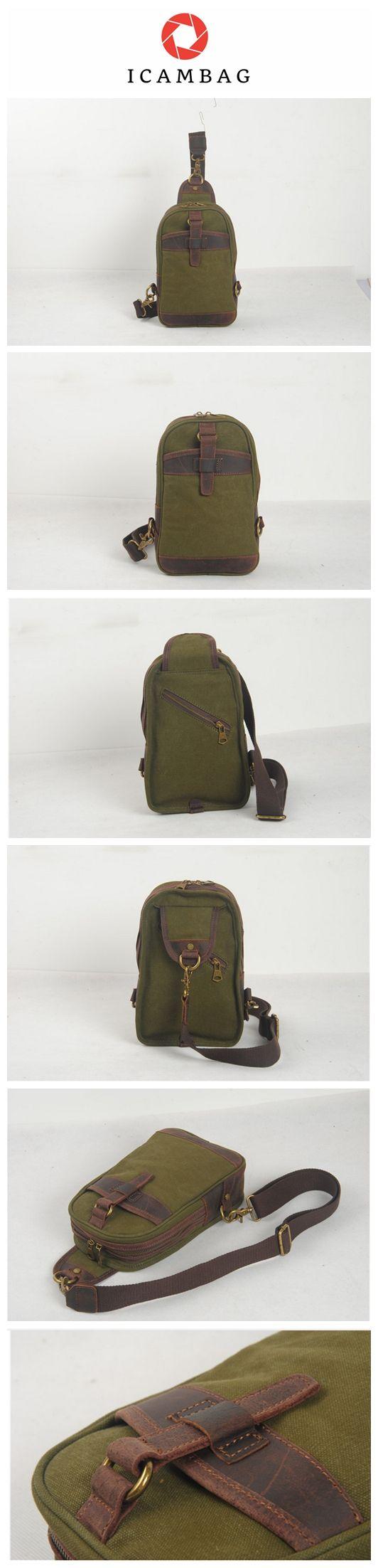 Canvas bag single shoulder cross-handbag breast bag men and women's satchel  1946