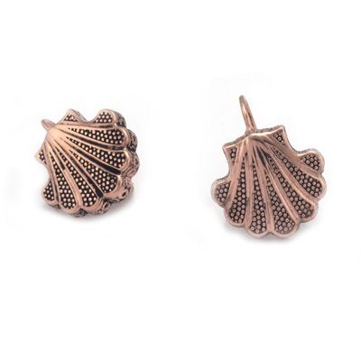 Shell earrings in sterling silver. Handmade in Galicia with traditional methods. Artcraft of The Way of St.James. Tax free $49.90