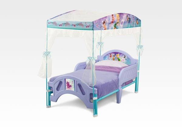Disney Fairies Canopy Bed Fairies Canopy Bed #furniture #bedroom #toddler #Disney #fairy