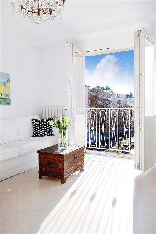 Stockholm Karlaplan livingroom compact living before