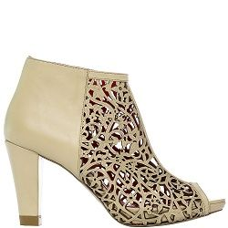Ankle Boot City Laser Cream