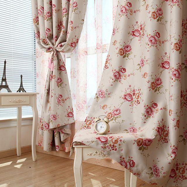 Rustique tissu rideau de l'ombre produit fini chambre fenêtre de rideau dépistage