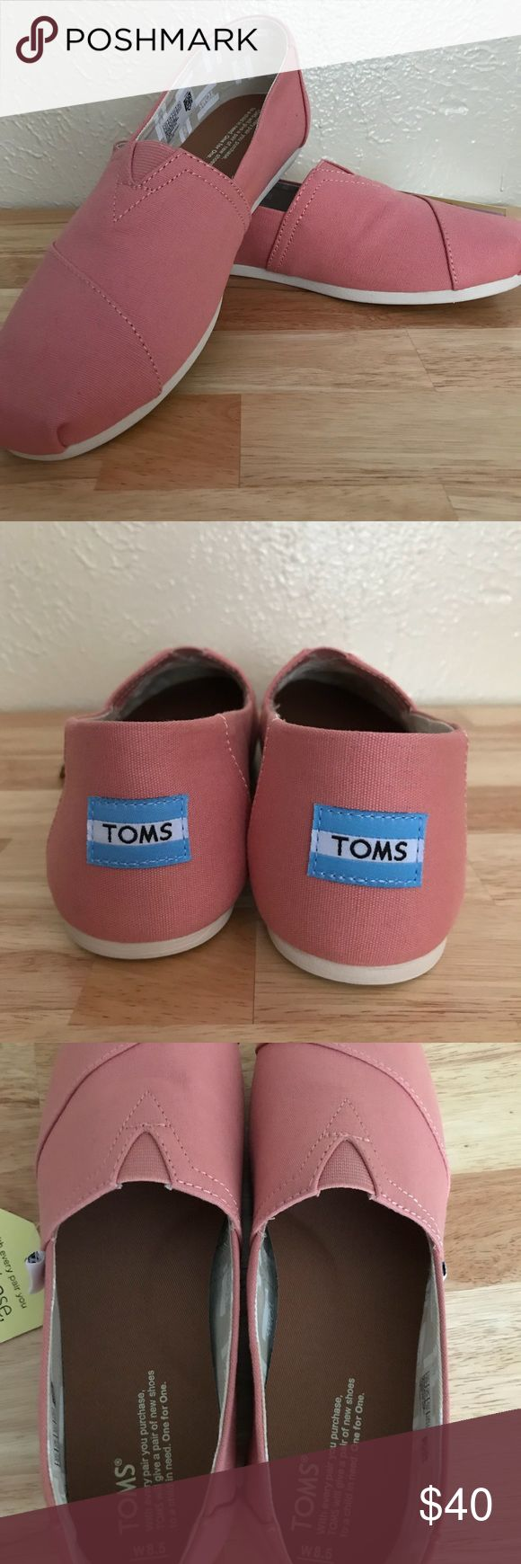 Light Pink Toms Cute light pink Toms. New-never worn. Toms Shoes