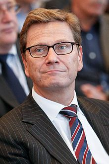 Guido Westerwelle (German: [ˈɡiːdo ˈvɛstɐˌvɛlə]; 27 December 1961 – 18 March 2016) was a German politician who served as the 10th Foreign Minister in the second cabinet of Chancellor Angela Merkel and was the 15th Vice Chancellor of Germany from 2009 to 2011. He died of LEUKEMIA March 18 2016.