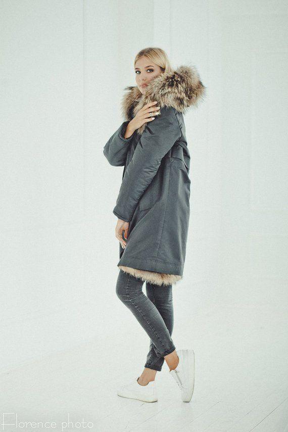 Hodded Parka Jacket Eskimo Windbreaker Winter Coat Womens eW2Db9EHIY