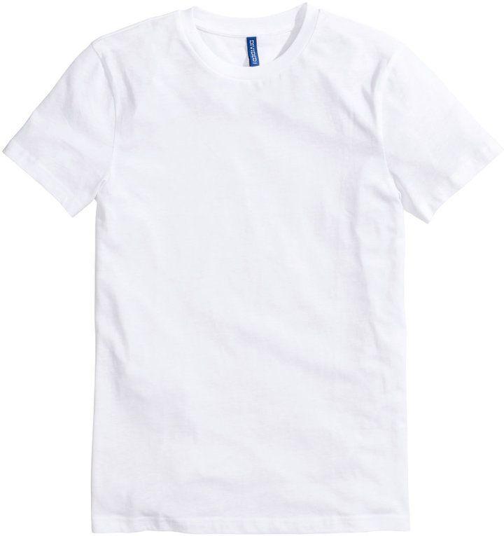 H&M - Basic T-shirt - White - Men