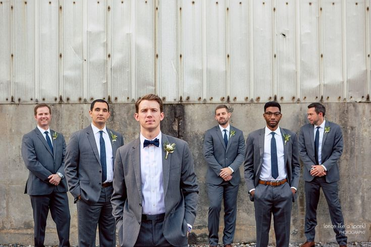 The Foundry at Puritan Mill Wedding :: Meagan + Brandon :: with Tyler » (Once Like a Spark) Photography | Groom and Groomsmen