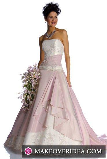 Цветные свадебные платья - модный тренд