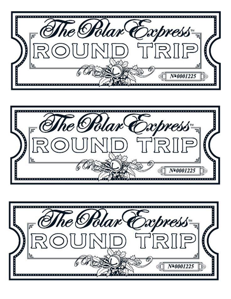 My take on the Polar Express tickets. We printed them on gold paper.