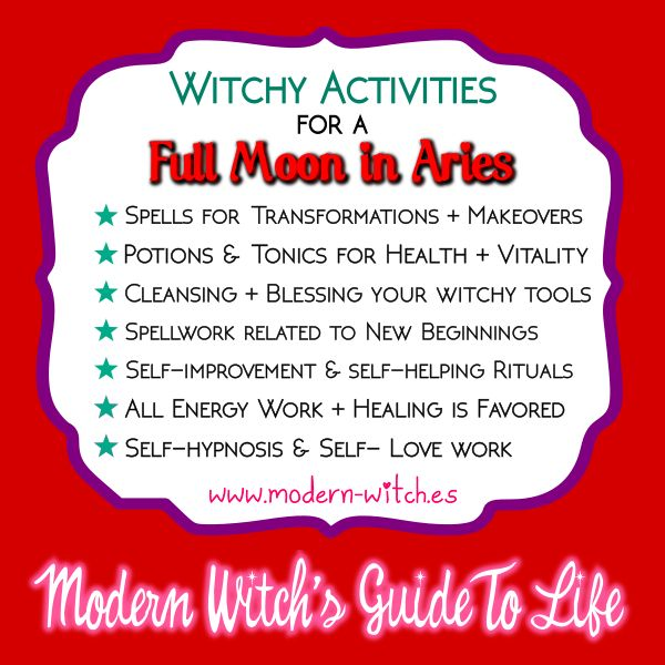 ★ Witchy things to do on this Full Moon in Aries ★