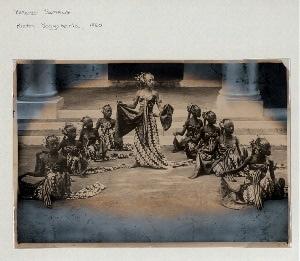 Bedoyo Semang dance, Yogyakarta Palace, 1860