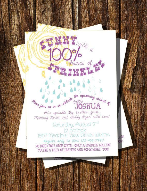 Sunny Sprinkles Baby Shower Invitation by BooBooBeanCreations, $15.00