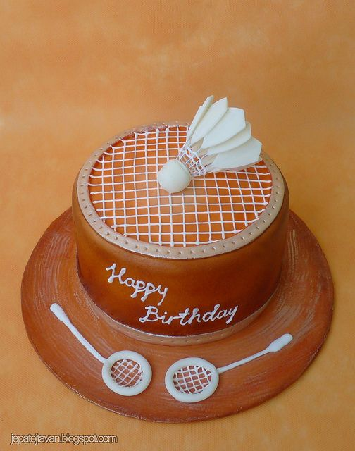 Badminton cake - For all your cake decorating supplies, please visit craftcompany.co.uk