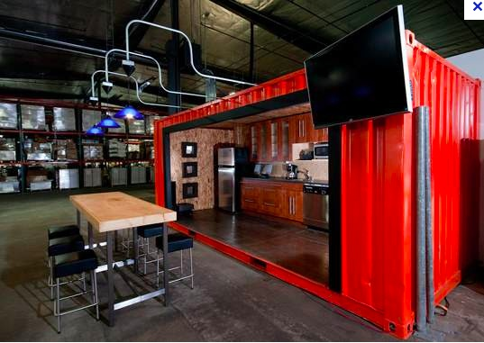 Shipping Container Kitchen Cool Office Spaces