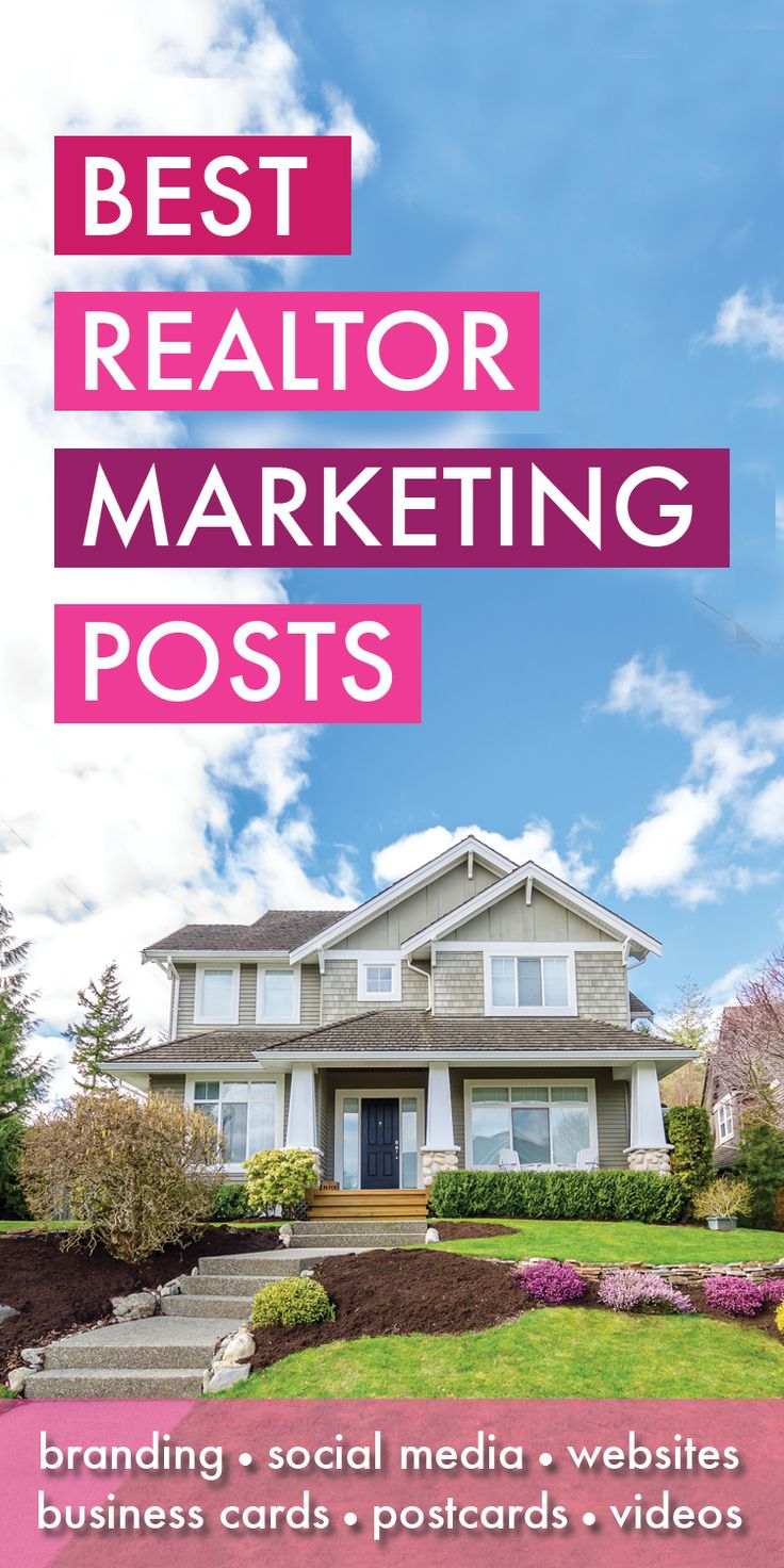 Best Realtor Marketing Posts - You made it! You found all my best Realtor Marketing articles, resources and blog posts! Covering such topics as Realtor websites, social media, business cards, SEO branding, collateral and more! I am a licensed Realtor myse