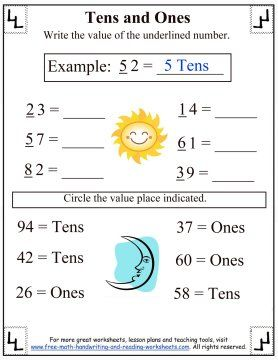 Best Place Value Worksheets Images On   Place Values