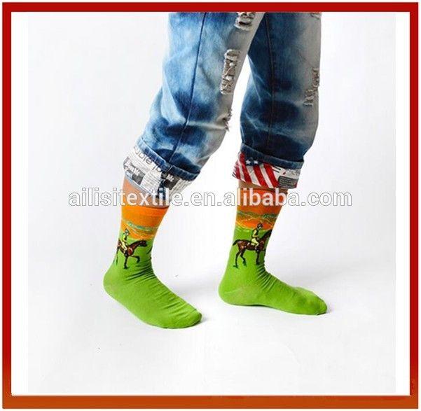 Unsex Oil Painting Cotton Dress Socks,Custom Logo Patterned Socks
