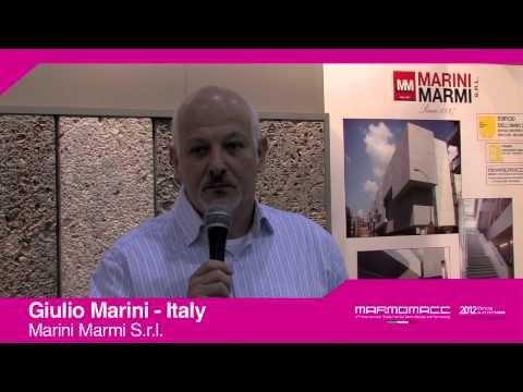 Marmomacc 2012: Giulio Marini interview (Marini Marmi S.r.l., Italy)