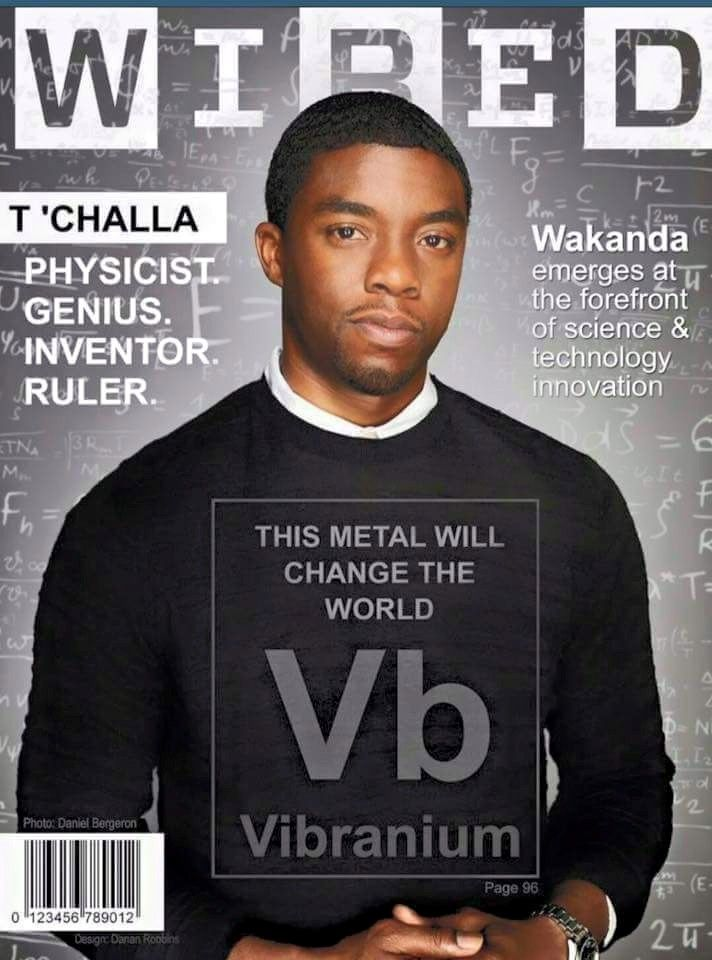 Chadwick Boseman depicted in his future Marvel Cinematic Universe role of T'Challa, The Black Panther #wakanda #vibranium