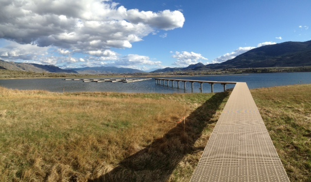 """Assembling the marina to the pier at """"The Cottages"""" in Osoyoos, BC"""