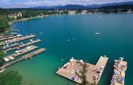 Klopeiner See In Austria. One of the warmest lakes in Austria