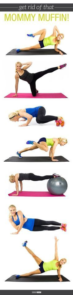 Here are 16 ab exercises that will blast that mommy muffin top!