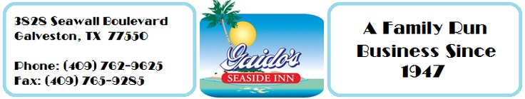 Galveston Hotels | Gaidos Seaside Inn | Galveston Texas | Galvesont Lodging | Galveston Vacation