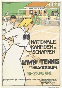 Lawn tennis, Hilversum by Willy Sluijter