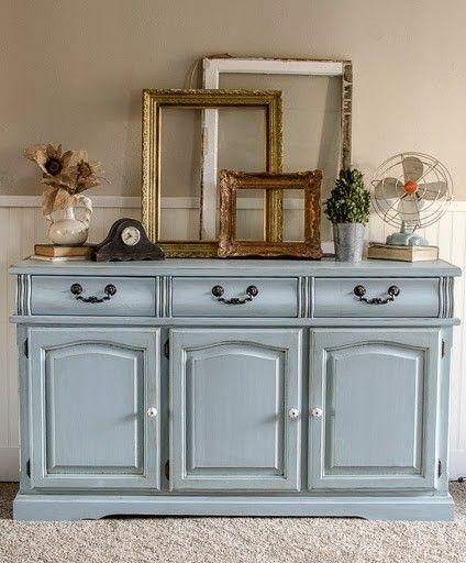 Refinished Blue Dresser….