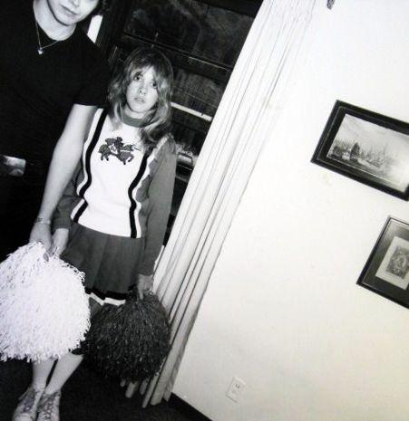 Stevie Nicks in Cheerleader outfit.