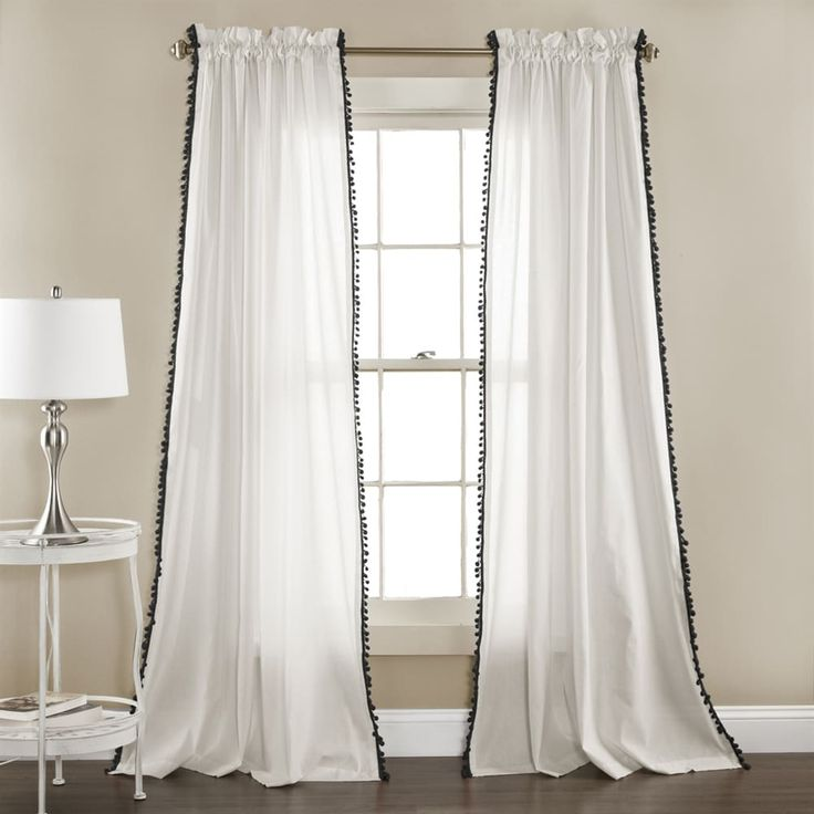 Shop Lush Decor Linen Pom Pom Window Curtain Set at The Mine. Browse our kids window treatments, all with free shipping and best price guaranteed.