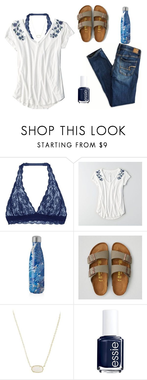 """""""Going to Richardson's Farm & raspberry picking"""" by lorla3407 on Polyvore featuring Cosabella, American Eagle Outfitters, S'well, Kendra Scott and Essie"""