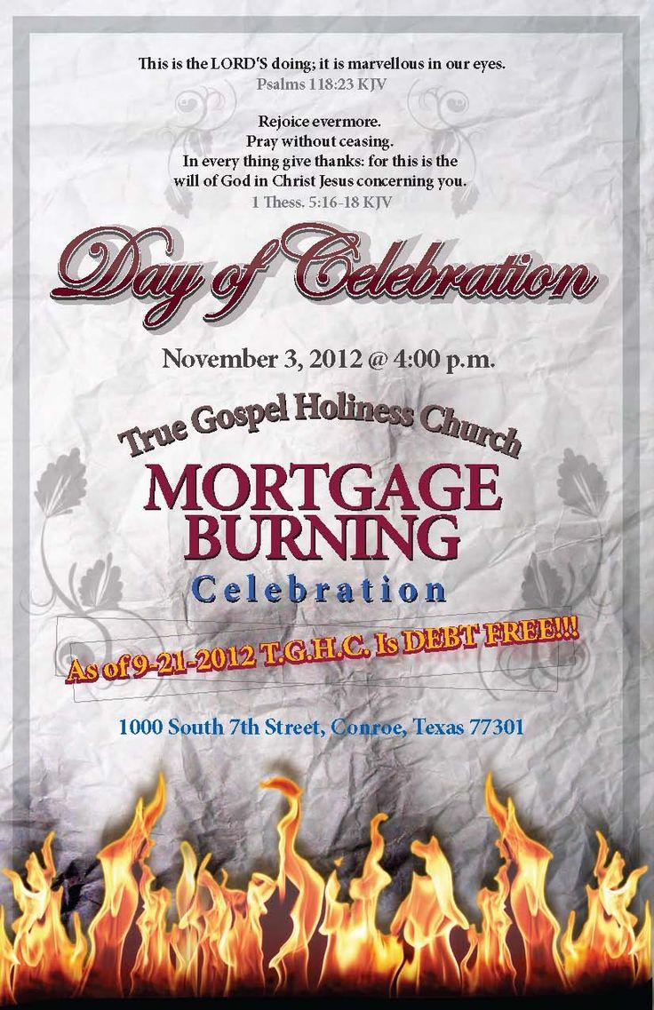 church mortgage burning event