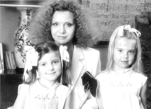 Carla Zampatti with daughters Allegra and Bianca Spender