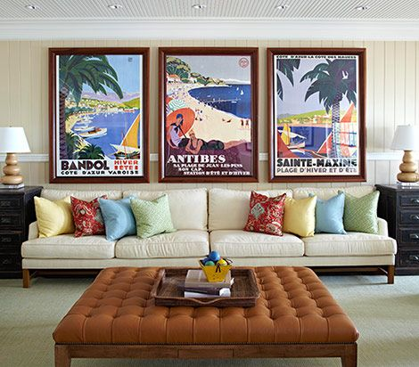 Been wanting to do this for a while--collection of vintage travel posters from all the places I've been