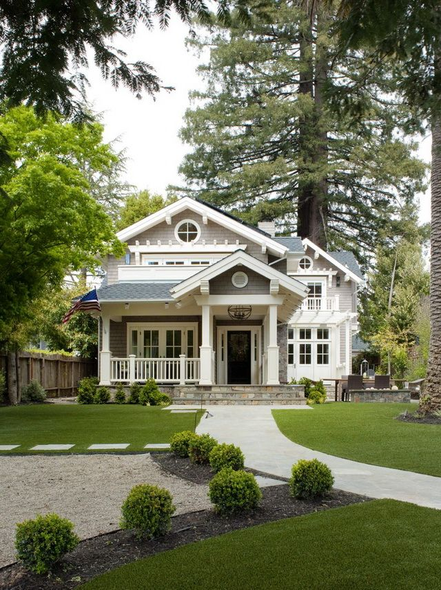 House In Mill Valley, California: Designer Leigha Heydt Gave It Some Curb  Appeal By Adding A Front Porch U0026 Providing It With A Shingled Cottage Style.