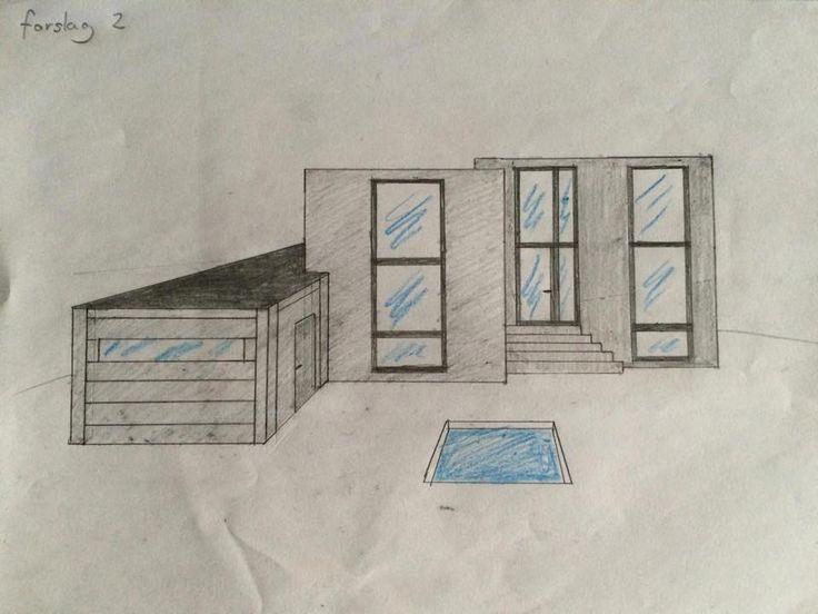 Forslag 2 til ombygning (facade)