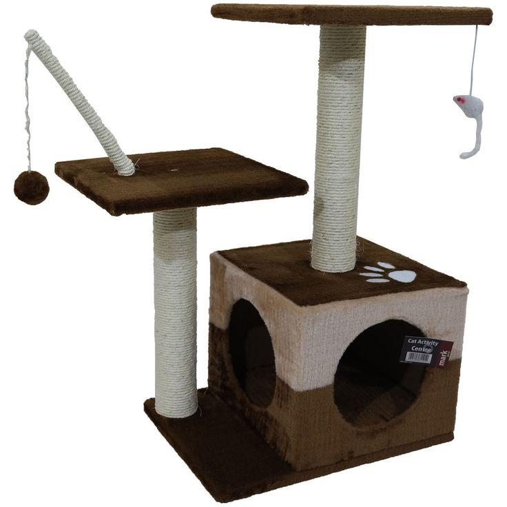 CAT ACTIVITY CENTRE TOY PLAY AREA BED PLATFORMS SCRATCHING POST SCRATCHER KITTEN in Pet Supplies, Cat Supplies, Furniture & Scratchers | eBay!