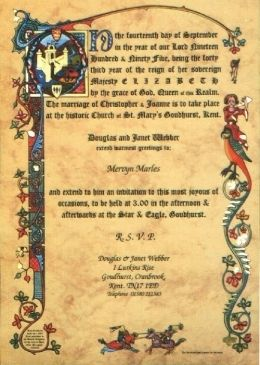 get medieval on them renaissance wedding invitation scroll - Medieval Wedding Invitations
