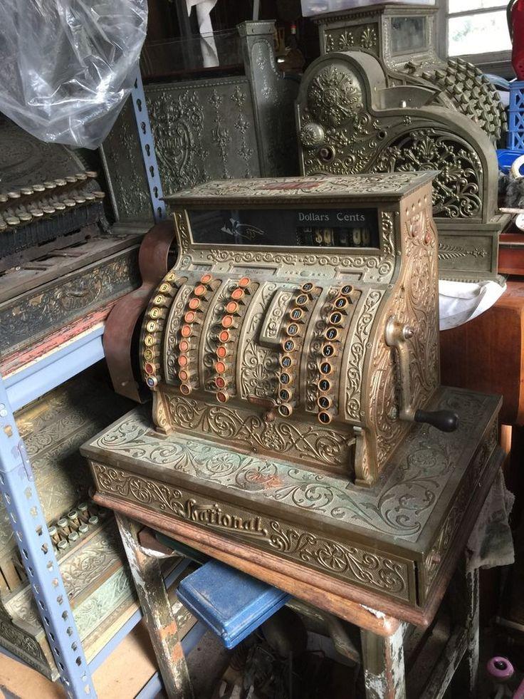 Antique Brass National Cash Register NCR Model 75 SCROLL Have Trucker Call  Me #NationalCashRegister