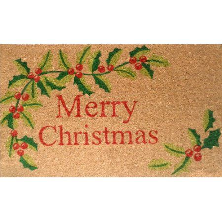 Home & More Merry Christmas Doormat, Black